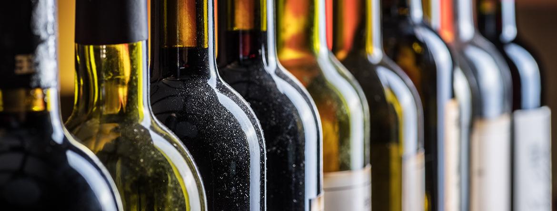Belles bouteilles de vins natures