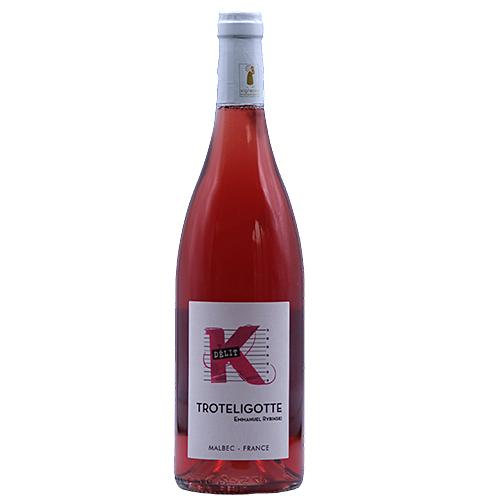 Vin Emmanuel-Rybinski - 2018 - Clos-Troteligotte - K-Delit - Rose - Malbec - Vin-de-France - Sud-ouest - 46220 - Pascadoires