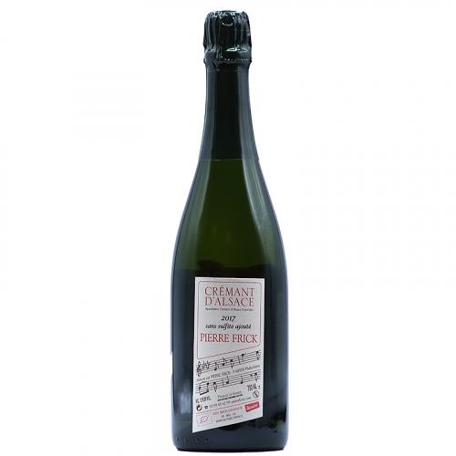 Vin Jean-Pierre-Frick - 2017 - Pierre-Frick - Cremant - Bulles - Pinot-Blanc - AOP-Cremant-Alsace - Alsace - 68250 - Pfaffenheim