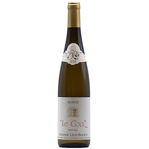 Vin Mathieu-et-Marie-Boesch - 2018 - Leon-Boesch - Le-Coq - Blanc - Pinot-gris - AOP-Alsace - Alsace - 68250 - Westhalten