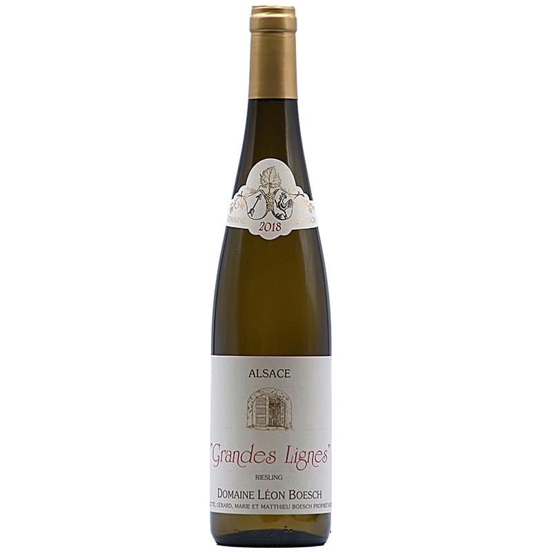 Vin Mathieu-et-Marie-Boesch - 2018 - Leon-Boesch - Les-Grandes-Lignes - Blanc - Riesling - AOP-Alsace - Alsace - 68250 - Westhalten