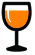 Verre de vin Orange